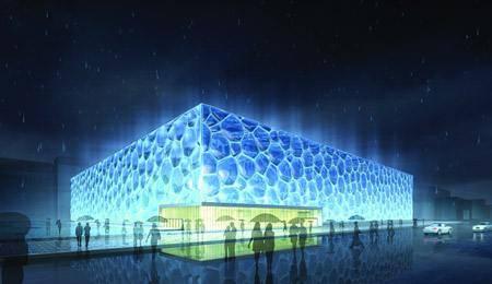 Китай Пекин: Национальный водный центр (Водный куб)