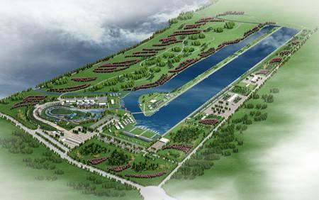 Китай Пекин: Парк для соревнований по гребле на каноэ