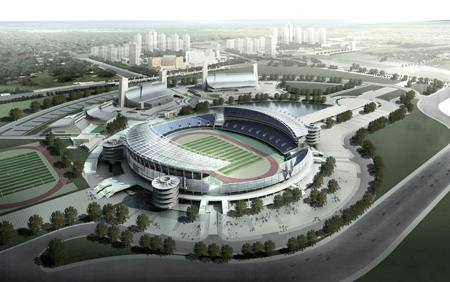 Китай Пекин: Стадион олимпийского спортивного центра