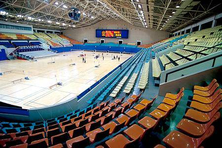 Китай Пекин: Спортивный зал Олимпийского спортивного центра