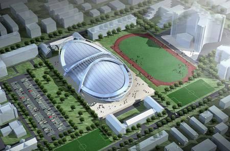 Китай Пекин: Спортивный зал Института Технологии