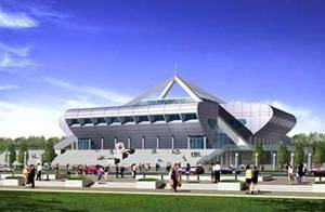 Китай Пекин: Спортивный зал Института Астронавтики