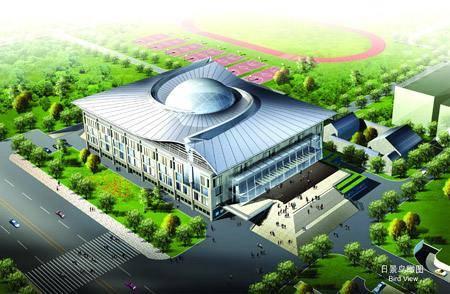 Китай Пекин: Спортивный Зал университета Пекина