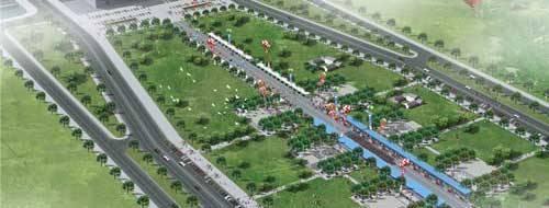 Китай Пекин: Трасса для городских велогонок