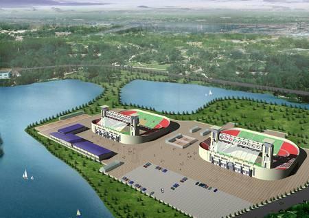 Китай Пекин: Площадка парка Чаоянг для пляжного волейбола