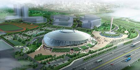 Китай Пекин: Спортивный Зал Университета Технологий