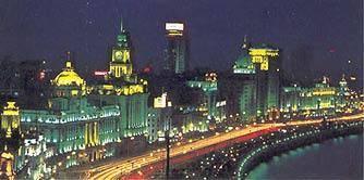Китай Шанхай: Набережная Вайтань