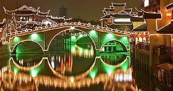 Китай Шанхай: Древний город Qibao