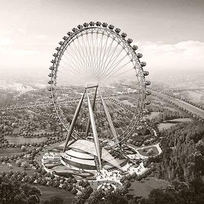 Пекин 2008 крупнейшее в мире колесо обозрения