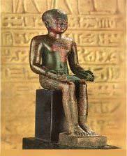 Статуя Имхотепа из Каирского музея
