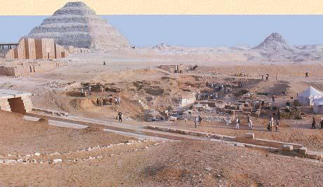 Раскопки в комплексе Джосера в Саккаре