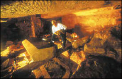 Захи Хавасс в шахте Осирийона Гизы