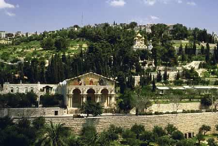 Вид на Елеонскую гору и Гефсиманский сад