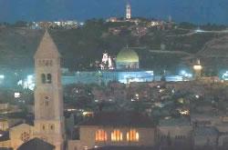 Иерусалим ночью. Видна Масличная (Елеонская) гора