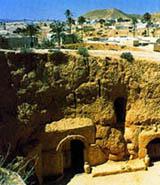Тунис пещерный город Матмата