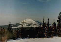 Заповедник БАСЕГИ - зимний вид горы Северный Басег