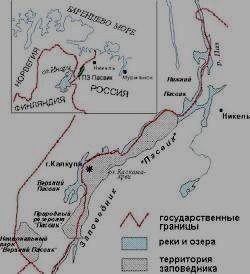 Заповедник ПАСВИК - карта