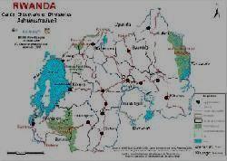Карта Руанды