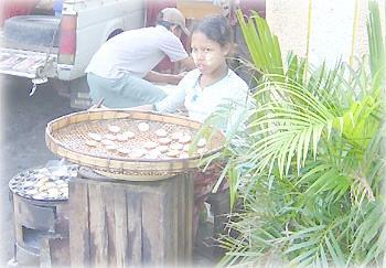 Продавщица еды, Рангун