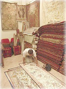 На рынке ковров, Тегеран