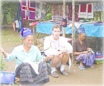 Швейное мастерство в деревне племени хмонг