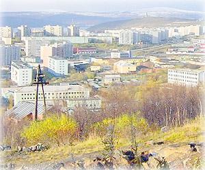 В Мурманске от обилия сопок трудно найти ровную площадку
