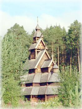 Деревянная церковь в Голе, Норвегия